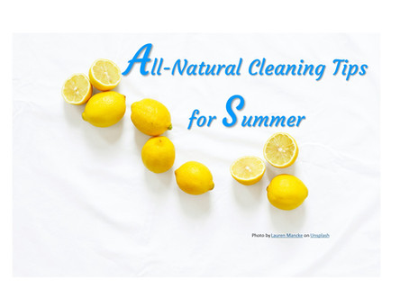 Summer All Natural Cleaning Tips
