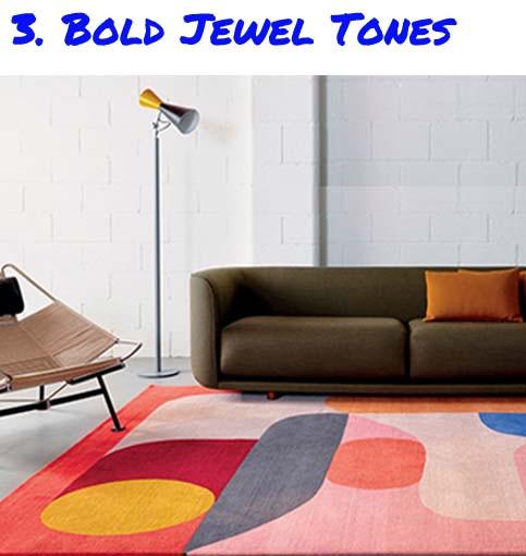 bold jewel tone rug