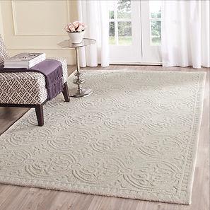 Residential white carpet