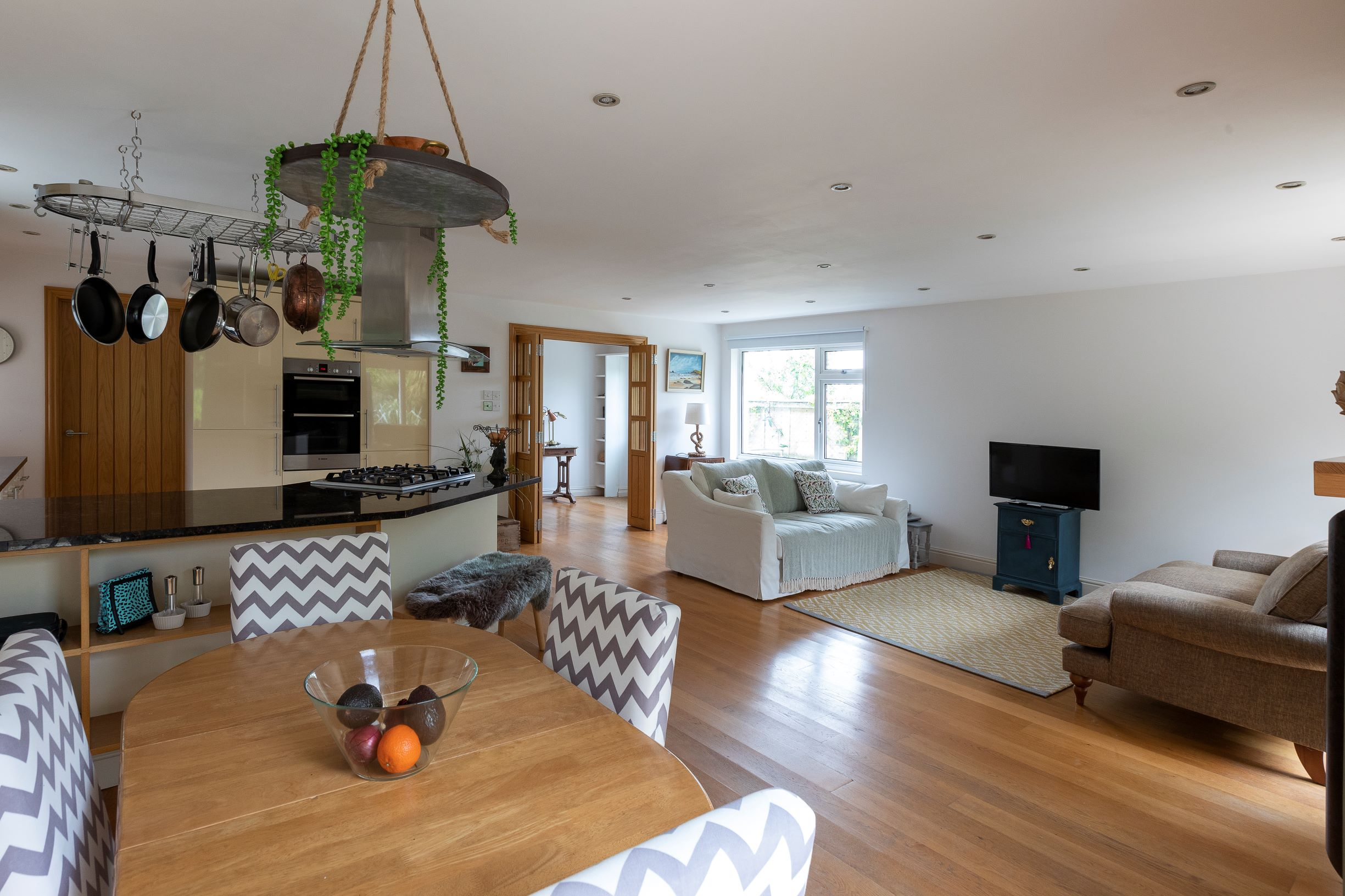 spacious bright open plan living