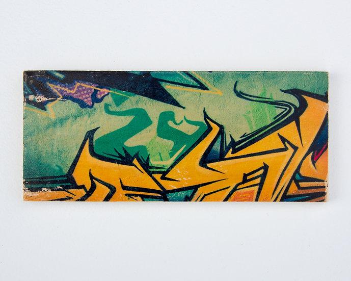 Graffiti Gold and Aqua