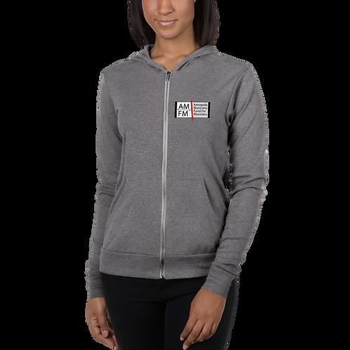 AMFM Logo Unisex zip hoodie
