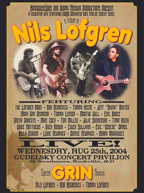 BandHouse Gigs Tribute to Nils Lofgren DVD