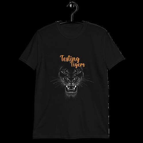 Testing tiger Short-Sleeve Unisex T-Shirt