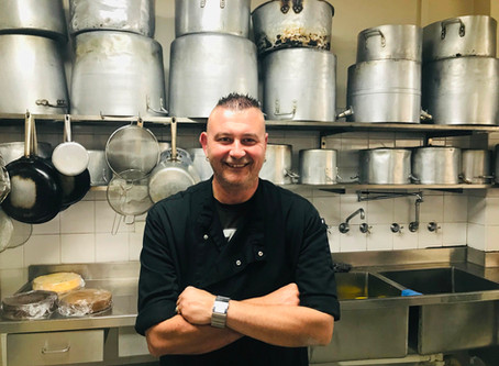 David shows leadership through his cooking