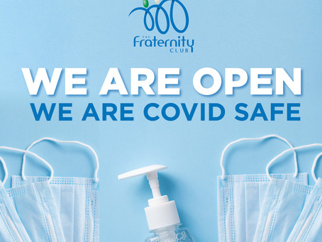 We are open. We are covid safe.
