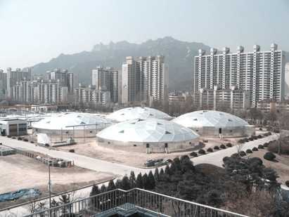 Uijeongbu sewage treatment plant aluminum cover