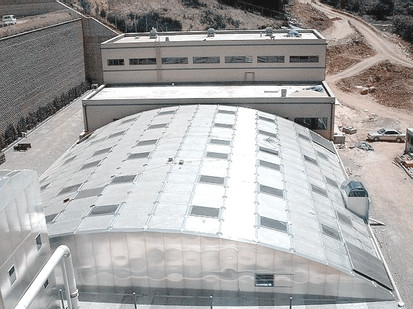 Anyang sewage treatment plant aluminum cover