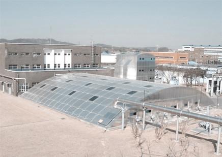 Cheongju sewage treatment plant aluminum cover