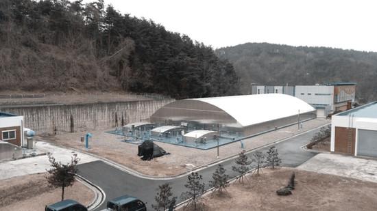 Samcheok Mapyeong water purification plant aluminum cover