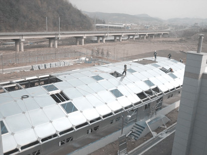 Imsil sewage treatment plant aluminum cover