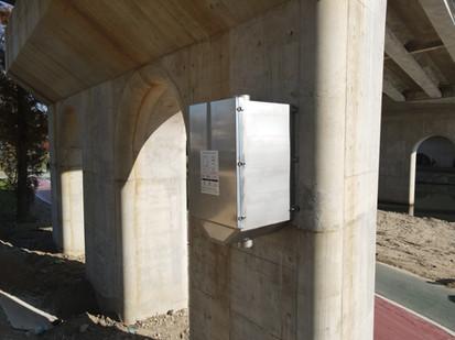 Non-point pollution reduction facility ENC-BG on Suyeong Riverside-daero