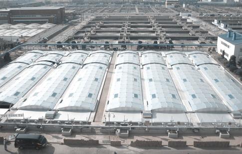 Ansan sewage treatment plant aluminum cover