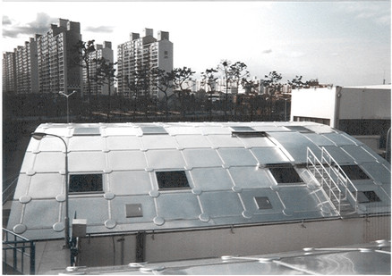 Samsung Electronics wastewater treatment plant aluminum cover