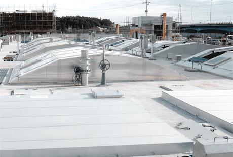 Tongildongsan sewage treatment plant aluminum cover