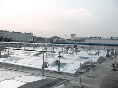 Cheonan sewage treatment plant aluminum cover