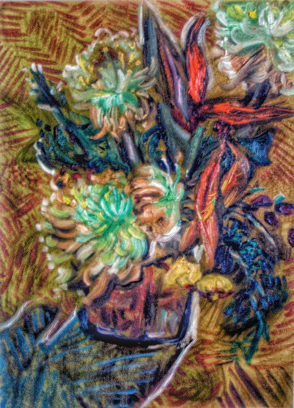 van gogh flower emulation
