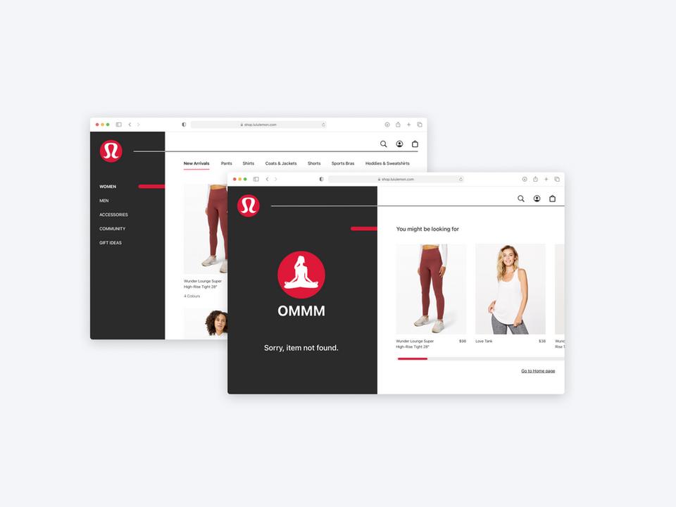 Lululemon Web Redesign