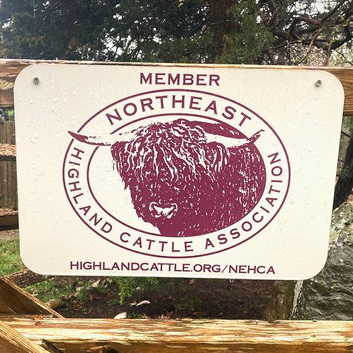 NEHCA Barn Sign