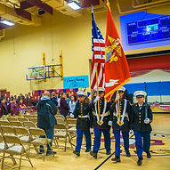 Color Guard Carrying the Flags