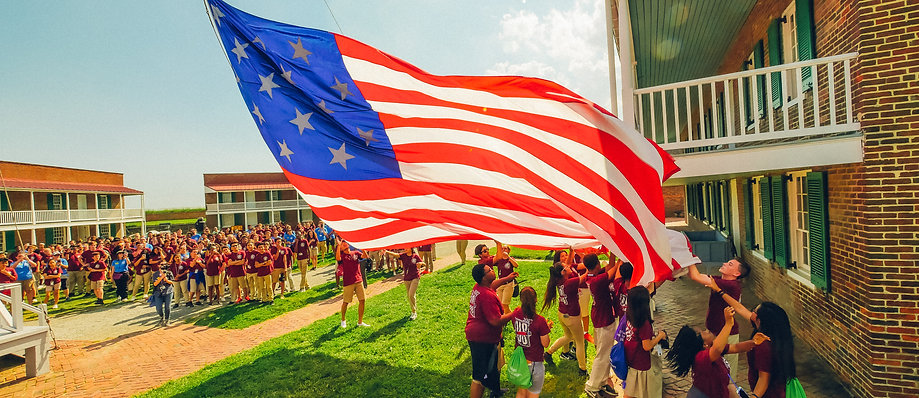 U.S. Road Scholars Trip - Raising of the Flag at Fort McHenry