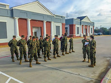 JROTC Drills Outside the School