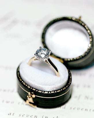 Petite Solitaire Diamond Engagement Ring