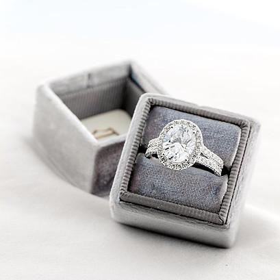 Split-shank Diamond Engagement Ring