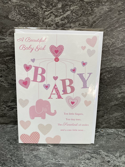 A Beautiful Baby Girl Card
