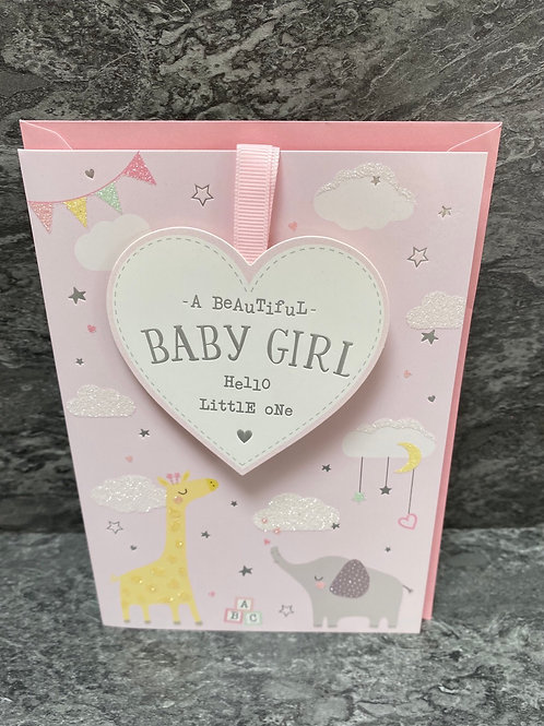 Beautiful Baby Girl Card