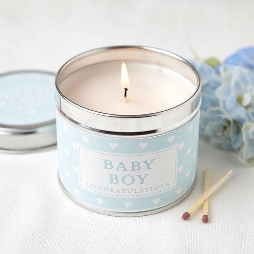 Baby Boy Congratulations Candle