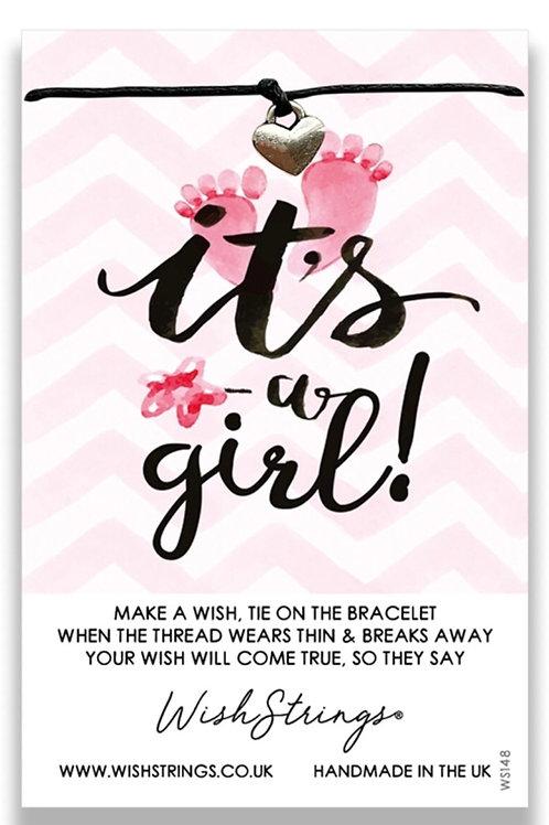 Wishstrings It's A Girl Bracelet