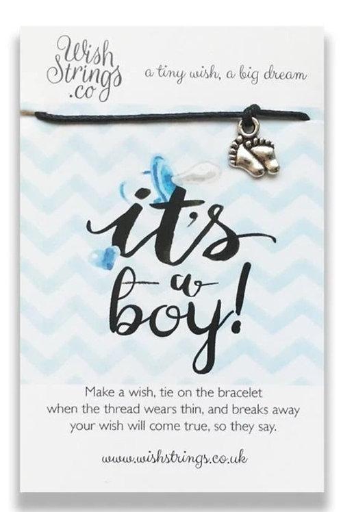 Wishstrings It's A Boy Bracelet