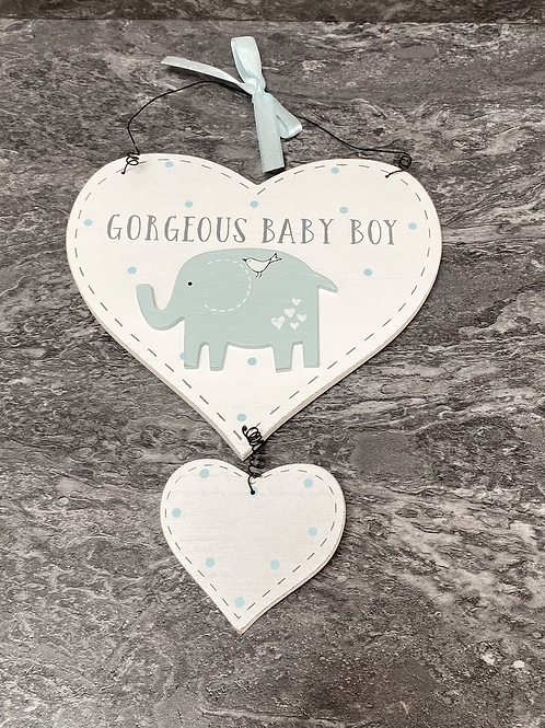 Gorgeous Baby Boy Plaque