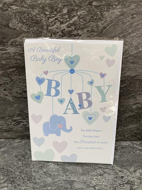 A Beautiful Baby Boy Card