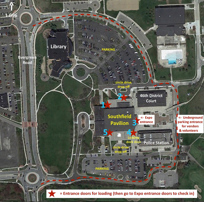 southfield pavilion parking map for vend