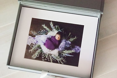 photography print box and matted photos