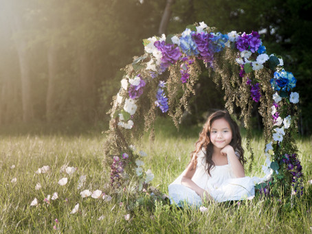 Floral Hoop Photo Shoot - DFW Child Photographer