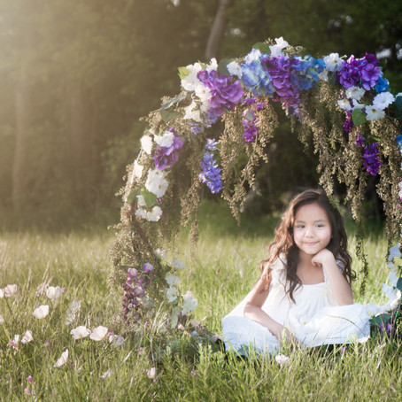 Floral Hoop Photo Shoot - DFW Child Photographer