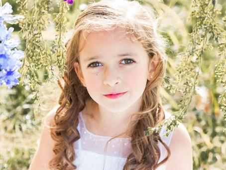 Denton Child Photographer - Claire's 1st Communion Photo Shoot