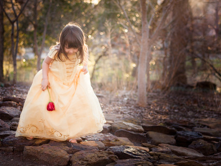 """Making Magic with """"Belle!"""" Southlake Child Photographer"""