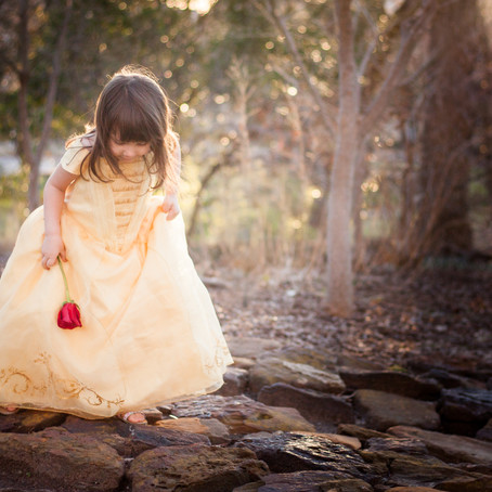 "Making Magic with ""Belle!"" Southlake Child Photographer"