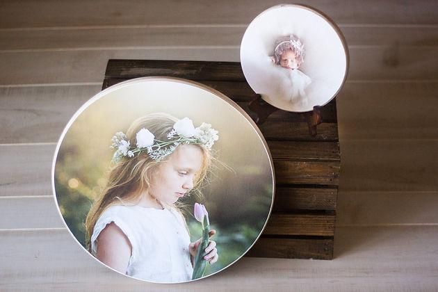 round heritage wood prints