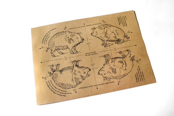 Fold to find the fifth pig