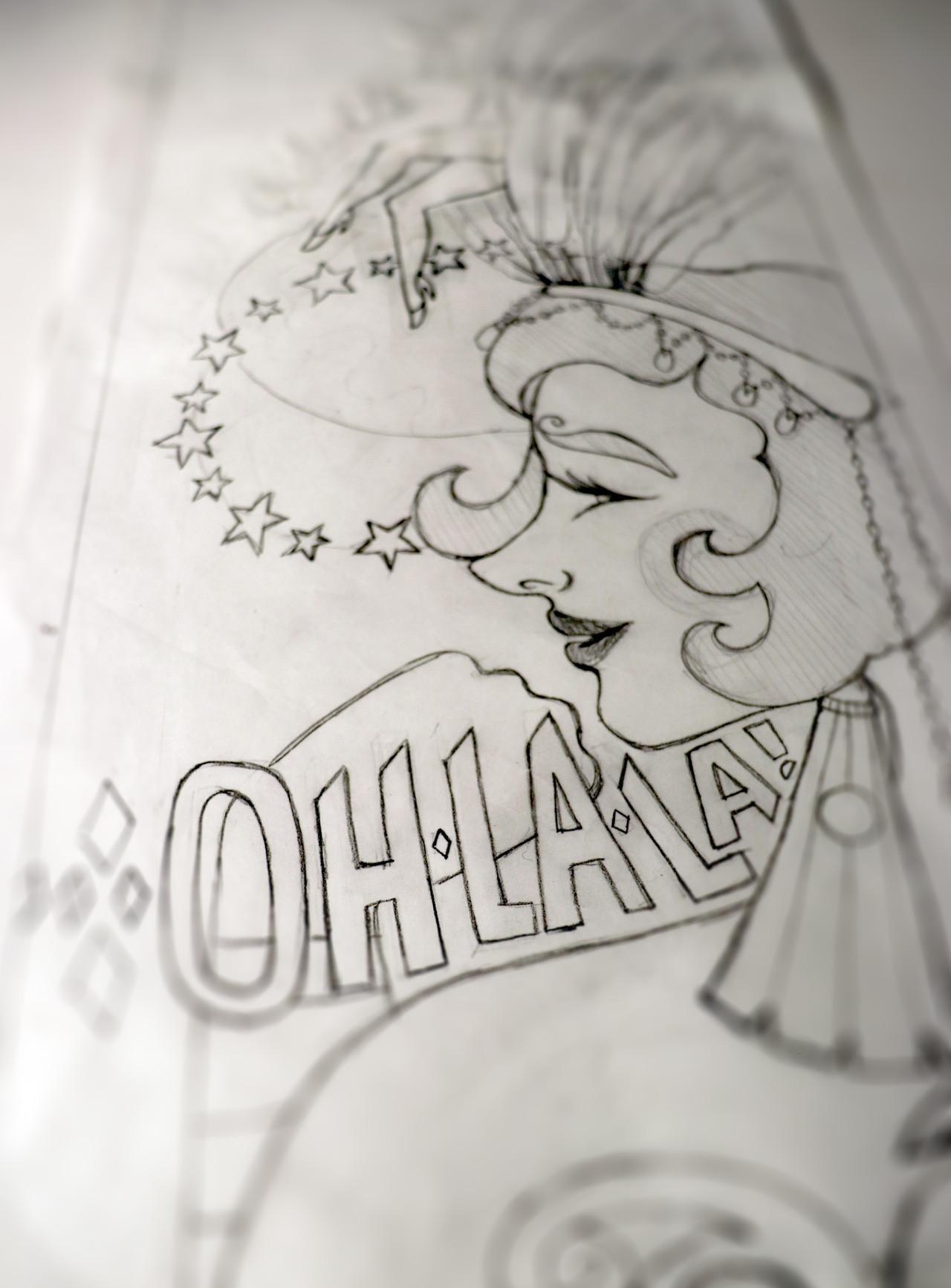 Burlesque Poster Sketch