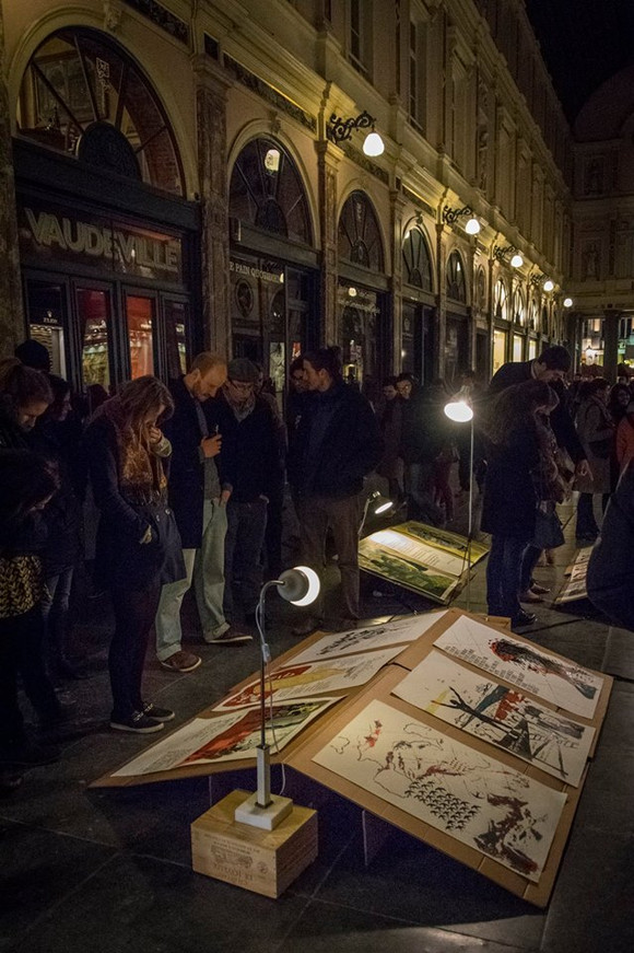 Exhibition of the illustrated Poems at Galerie de La Reine, Brussels