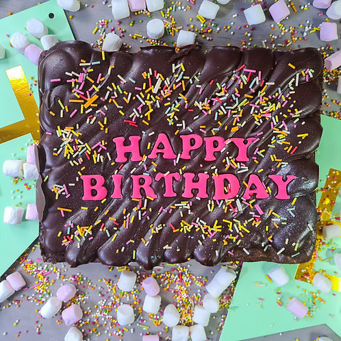 Birthday Brownie Slab