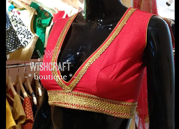 Trendy Saree Blouse - latest style #192
