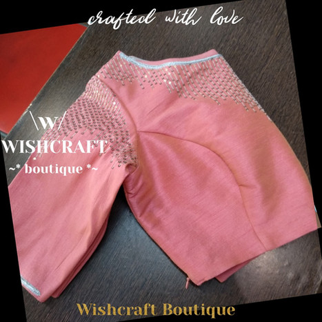 187 peach sequins blouse - wishcraft bou