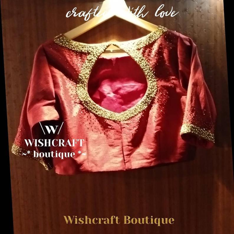 200 maroon work blouse - back.jpg